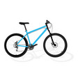 new blue bicycle vector image vector image
