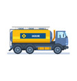 oil industry car carrying gasoline in tank vector image
