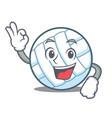 okay volley ball character cartoon vector image vector image