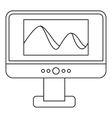 Photo on computer monitor icon outline style vector image vector image