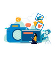 photography classes photography courses vector image