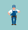 plumber thumbs up fitter winks emoji service vector image vector image