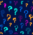 question marks signs seamless pattern background vector image vector image