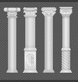 realistic white antique roman column isolated vector image vector image