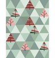 retro pattern geometric shapes with trees vector image