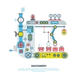 Robotic industrial abstract machine machinery in vector image