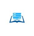 server book logo icon design vector image
