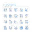 set color line icons hygiene vector image vector image