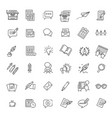set copywriting related line icons vector image vector image