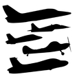 set different airplane icons vector image