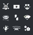 set japan icons vector image