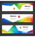set polygonal triangular colorful geometric vector image vector image