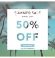 Summer Sale Banner Sale Background Big sale vector image vector image