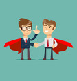 superhero proudly standing in a confident pose and vector image vector image