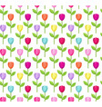 tulip color pattern vector image vector image