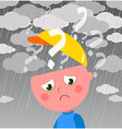Very sad and confused child vector image vector image