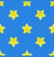 yellow stars seamless pattern vector image vector image