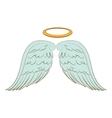 wing halo angel icon vector image