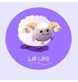 sad lamb on isolated background vector image
