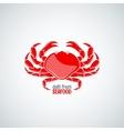 crab seafood menu background vector image