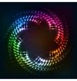 Abstract circle shining lights frame vector image vector image