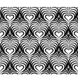 abstract floral seamless pattern line heart shape vector image vector image
