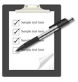 abstract list icon with pen on business them vector image vector image