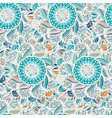 abstract seamless floral pattern abstract vector image vector image