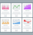 analytics and statistics page vector image vector image