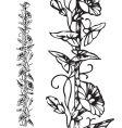 antique floral border engraving