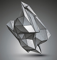 Asymmetric sharp metallic object created from vector image vector image