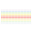 atom shape halftone spectral grid vector image