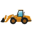 backhoe machine icon vector image vector image