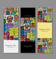 banners design ethnic floral ornament vector image vector image
