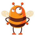 bee is thinking on white background vector image vector image