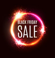 black friday sale poster or banner design vector image