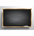 Blackboard background and wooden frame vector image