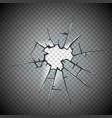 broken glass window frame window glass vector image vector image