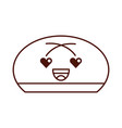 cartoon bun bread food kawaii funny vector image vector image