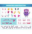 cartoon monster constructor set vector image
