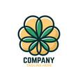 cbd cannabis logo vector image