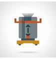 Coffee grinder flat color icon vector image vector image