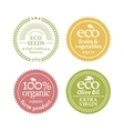Collection of 4 badges in retro style vector image vector image