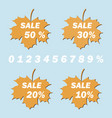 collection of autumn stickers vector image vector image