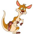 cute cartoon kangaroo vector image vector image