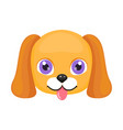 cute dog face or mask isolated vector image vector image