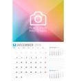 december 2019 wall calendar planner template vector image