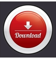 Download button red round sticker vector image vector image