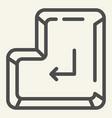 enter button line icon enter key vector image vector image