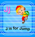 flashcard letter j is for jump vector image